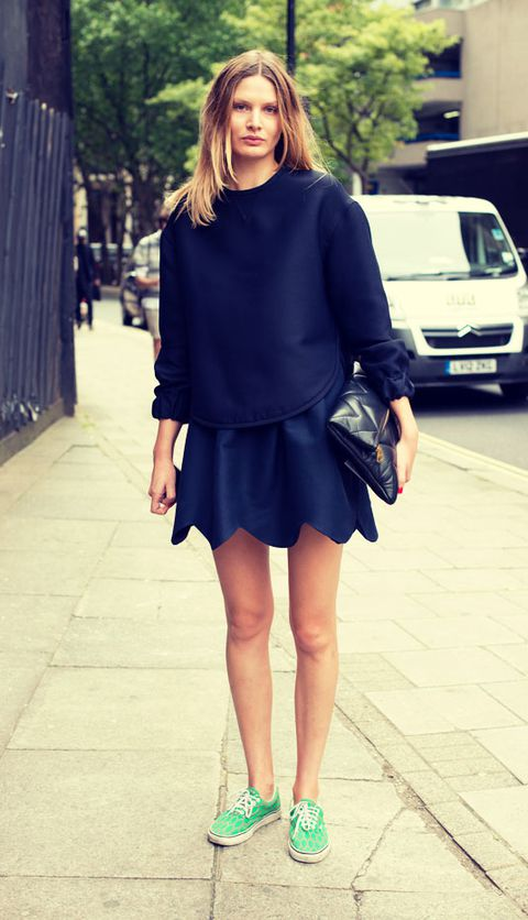 navy-blue-mini-skirt-mint-green-vans-lo-authentic-sneaker